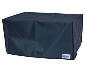 comp bind technology printer dust cover for epson workforce wf-3640 printer, petroleum blue anti-static dust cover 17.7''w x 16