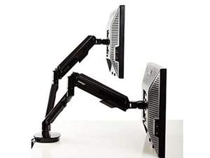 "Staples Dual Monitor Arm up to 30"" Monitors Black (51729)"