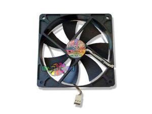 silenx ixtrema pro series model ix-12025-14 120mm x 25mm super quiet case fan and mounting screws