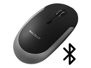macally silent wireless bluetooth mouse for apple mac or windows pc laptop/desktop computer | slim & compact mice design with o