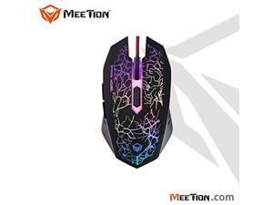 gaming mouse meetion m930 breathing led light, 6 buttons, 4 adjustable dpi levels, 800/1200/1600/2400 with different color.