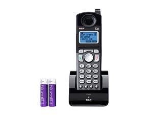 rca 25055re1 dect 6.0 cordless accessory handset with built-in voice memo recorder - 2 line phone systems for small business bu