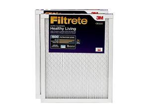 filtrete 14x14x1, ac furnace air filter, mpr 1500, healthy living ultra allergen, 2-pack