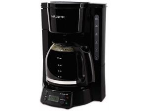 mr. coffee 12-cup programmable coffee maker, black (renewed)