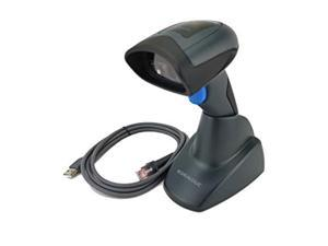 datalogic quickscan qd2430 handheld 2d barcode scanner, includes base stand (autosense) and usb cable