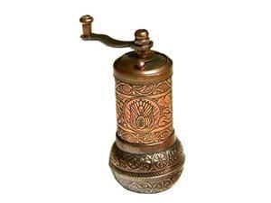 turkish handmade copper coffee salt pepper spice grinder mill 4.2'' (copper)