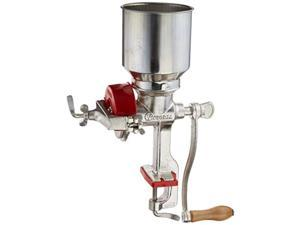 victoria commercial grade manual grain grinder with high hopper - table clamp hand corn mill, cast iron