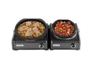 Crock-Pot Hook Up 2-Quart Connectable Entertaining Slow Cooker System, Black