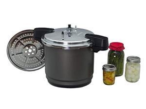 granite ware pressure canner and cooker/steamer, 12quart, black