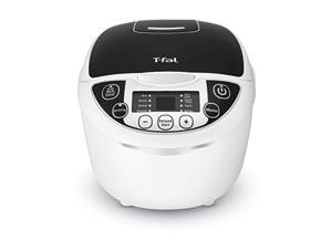 t-fal rk705851 10-in-1 rice and multicooker with 10 automatic functions and delayed timer, 10-cup, white