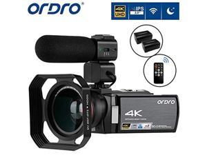 video camera 4k camcorder ordro 4k ultra hd digital camera 30mp 1080p 60fps video camcorder ir night vision wifi recorder with