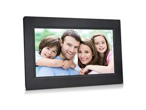 """[new update] 10"""" smart wifi cloud digital photo frame with touchscreen - includes 20gb free cloud storage, iphone & android app"""