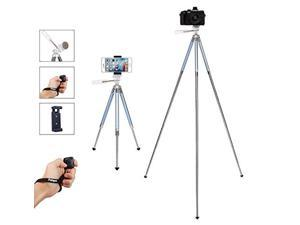 fotopro tripod for iphone, 39.5 inch phone tripods, lightweight tripod with bluetooth remote/smartphone mount, portable tripod