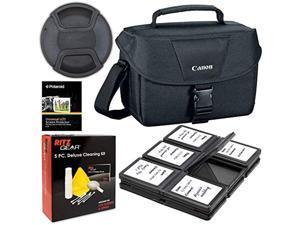 canon 200es camera shoulder bag (9320a023) for canon eos rebel t6 t7 t5i t6i t7i eos 90d 80d 70d 6d eos sl3 sl2 m50. bundle inc