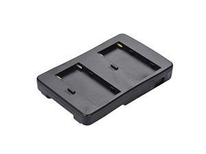 andoer f2-bp np-f battery to v-mount battery converter adapter plate fit f970 f750 f550 for canon 5d2 5d3 dslr camera led light