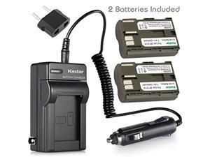 kastar battery (x2) & ac travel charger for canon bp-511 bp-511a and eos 5d 10d 20d 30d 40d 50d digital rebel 1d d60 300d d30 k