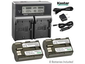 kastar lcd dual fast charger + 2 x battery for canon bp-511, bp-511a, bp511, bp511a & eos 5d, 10d, 20d, 30d, 40d, 50d, digital