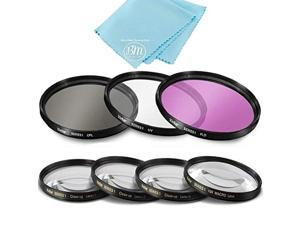 77mm 7pc filter set for nikon coolpix p1000 16.7 digital camera - includes 3 pc filter kit (uv-cpl-fld) and 4pc close up filter