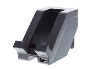 bostitch konnect usb charging phone stand, vertical or horizontal docking, gray (kt-phone-gray)