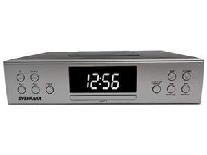 sylvania skcr2810bt under cabinet clock radio, music system with bluetooth streaming and fm radio