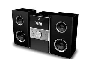 gpx cd player & digital am/fm radio tuner hi-fi desktop home audio stereo sound system plus 6ft kubicle aux cable bundle