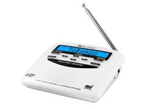 table top weather radio, white