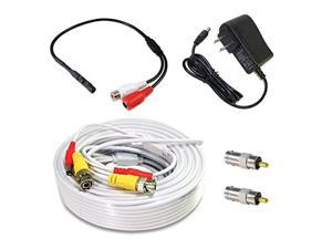 evertech high sensitive mini microphone kit white cable for security surveillance systems