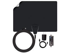 antennas direct clearstream flex amplified tv antenna, 50+ mile range, uhf/vhf, multi-directional, grips to walls, usb in-line