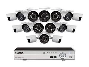 lorex dv7163 16 channel 1080p hd mdx 3tb dvr security system w/ 16 1080p lbv2531w bullet cameras