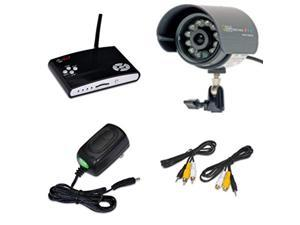 q-see surveillance indoor/outdoor security system dvr kit 1 qsw1001r wireless video recorder with 1 60' wired weatherproof nigh