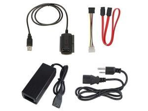 "new usb 2.0 to 2.5"" 3.5"" ide sata hdd hard drive converter adapter cable + ac power adapter"