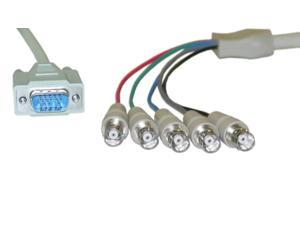 offex of-10h1-17201 1-feet svga to bnc monitor breakout cable