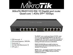 mikrotik rb4011 ethernet 10-port gigabit router (rb4011igs+rm)