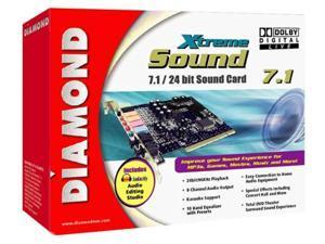 diamond xtremesound 7.1/24 bit sound card with dolby digital live (xs71ddl)