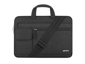 mosiso laptop shoulder bag compatible with 13-13.3 inch macbook pro, macbook air, notebook computer, protective polyester flapo