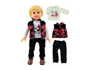 outdoorsy boy outfit 3pc 18-inch dolls fits 18-inch american dolls and more