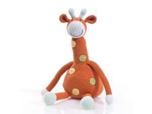 pebble | handmade giraffe stuffed animal-orange | crochet | fair trade | pretend | imaginative play | safari | kids toy | machi