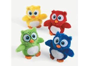 cute stuffed owl toys - pack of 12 plush owl stuffed animals in assorted colors