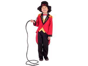 kids ringmaster costume childrens circus uniform red jacket outfit - x-large