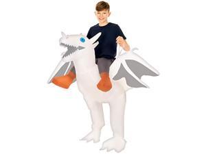 morph white inflatable ride-on dragon halloween costume for kids