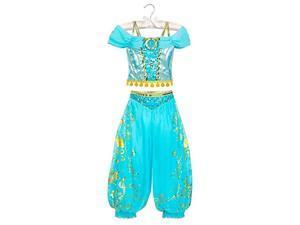 disney jasmine costume for kids - aladdin size 7/8 multi