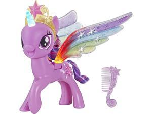 my little pony toy rainbow wings twilight sparkle -- purple pony figure with lights and moving wings, kids ages 3 years old and