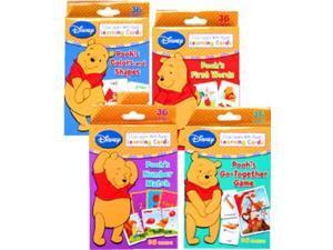disney winnie the pooh learning cards (set of 4 decks)