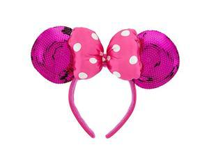 disney minnie mouse ears headband for girls - pink sequin