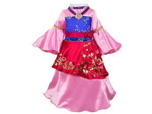disney mulan costume for kids size 5/6 multi