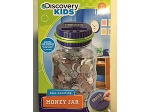 discover kids coin-counting money jar- blue and green