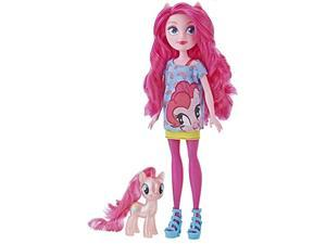 """my little pony equestria girls through the mirror pinkie pie -- 11"""" fashion doll with pink pony figure, removable outfit & shoe"""