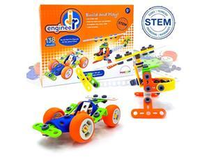 mukikim jr. engineer - car & copter | junior educational stem learning construction set for boys & girls 5+ years | 2-in-1 138p