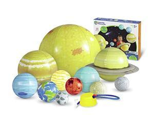 learning resources giant inflatable solar system, 12 pieces, 8 planets, grades k+/ages 5+
