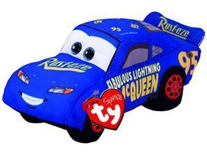 ty cars 3 fabulous lightning mcqueen plush toy, blue